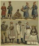 Lapps, Swedes, And Norwegians In Traditional Dress.
