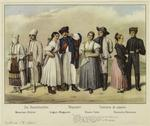 Various Peasant Costumes Of Europe.