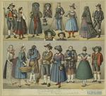 Austrian Tyrol, Czechoslovakian, And German Traditional Dress.