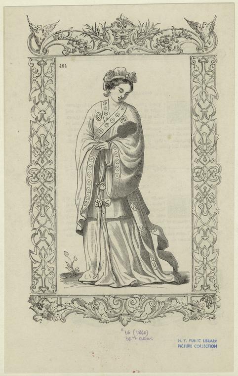 [Japanese woman, 16th century.]