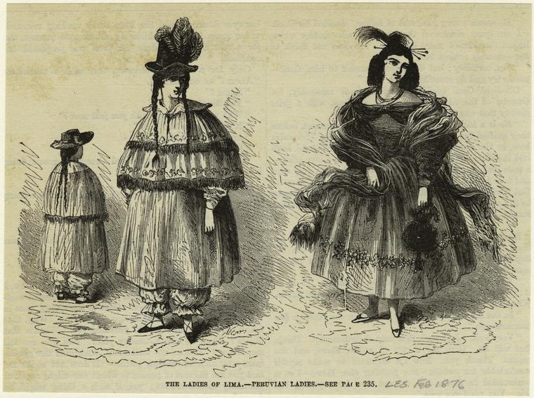 The ladies of Lima, Peruvian ladies.