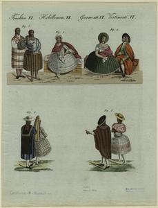 [Peruvian women and men, ca. 1800.]