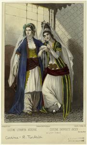 Costume Levantine moderne ; Costume Smyrniote ancien.