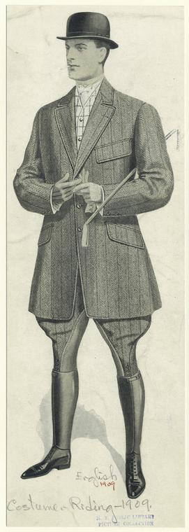 [Man in riding attire, England.]