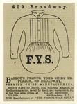Ballou's French yoke shir