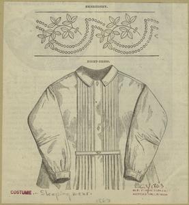 Embroidery ; Night-dress. Digital ID: 828089. New York Public Library