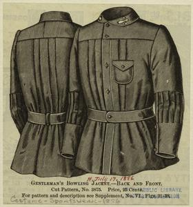 Gentleman's bowling jacket - back and front.