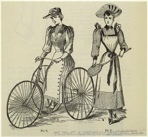 Wool cycling dress with pleate... Digital ID: 828140. New York Public Library
