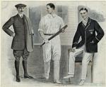 [Men in sportswear, one h