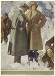 Man And Woman Wearing Coats, Hats, And Boots  In Snow.