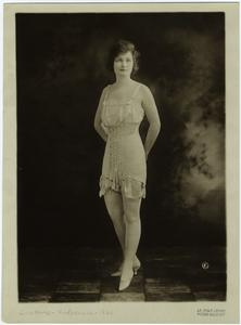 [Woman in undergarments, ca. 1921.]