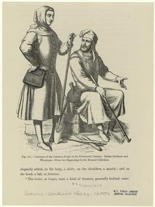 Costumes of the common people in the fourteenth century : Italian gardener and woodman.
