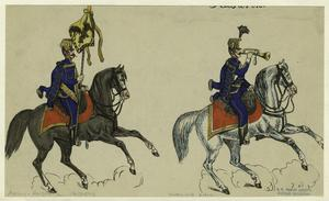 [Austrian soldiers on horseback.]
