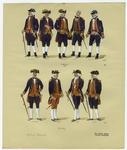 Brazilian Military Uniforms, 1786.