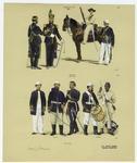Brazilian Military Uniforms, 1866-1870.