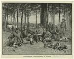 Confederate Artillerymen At Dinner.