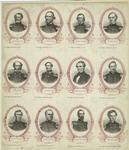 Portraits Of Confederate Generals And Jefferson Davis, United States, 1860s.