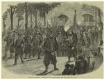 Zouaves Leaving Versailles By Torch-Light For The Seat Of War.