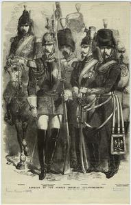 Cavalry of the French imperial guard.