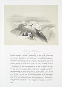 Summit of Mount Sinai, Shewing the Christian and Mahometan Chapels