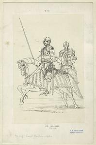 [Knights and horses in full armor, A. D. 1461-1485.]