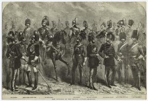 New uniforms of the British cavalry.