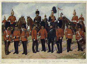 Types of the Irish regiments of the British army.