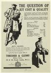 Advertisement For Thresher & Glenny, Military Tailors, England, 20th Century
