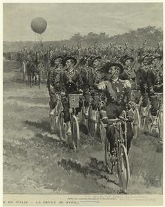 Défilé des cyclistes bersaglie... Digital ID: 831098. New York Public Library