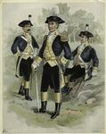 Continental Army Soldiers In Uniforms, 18th Century.