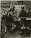 Commandant and warrant officers, 1805 : signing of the treaty by the Dey of Algeria