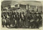 The Civil War in America : torchlight procession of General Blenker's brigade at Washinton in honour of General McClellan taking command of the Federal Army.
