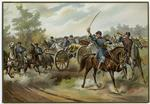 American Military On Horseback.
