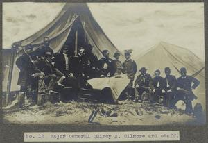 Major General Quincy A. Gilmore and staff.