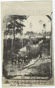 Col. Edward H. Ripley's 9th Reg't marching out of camp, North Carolina, 1863.