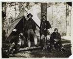American Soldiers Posing Before A Tent, 1861-1865.