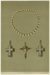 Pearl Necklace Of Mary Queen Of Scots (1542-1587) ; Silver Enameled Reliquary ; Gold Enamel Crucifix