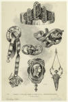 Specimens of jewellery.