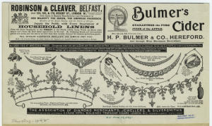 [Advertisement for jewelry, nineteenth century.]