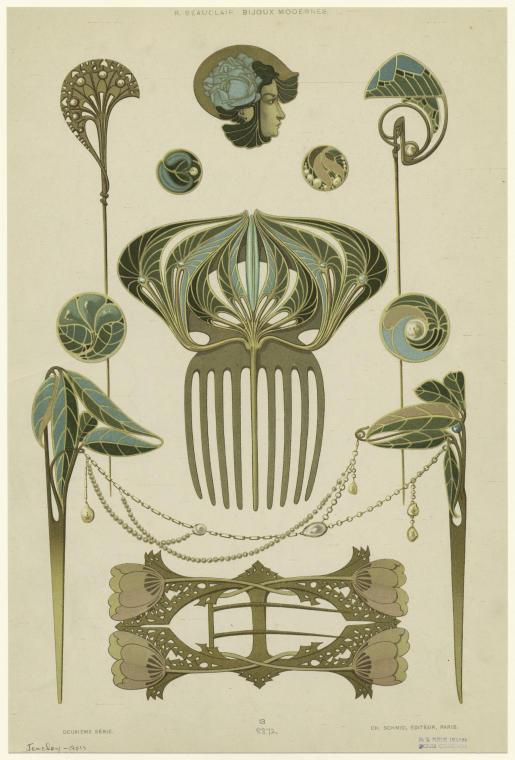[Jewelry, Paris, France, 1901s.]