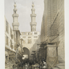 Minarets and the grand entrance of the Metwaleys at Cairo