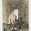 The bazaar of the silk mercers, Cairo.