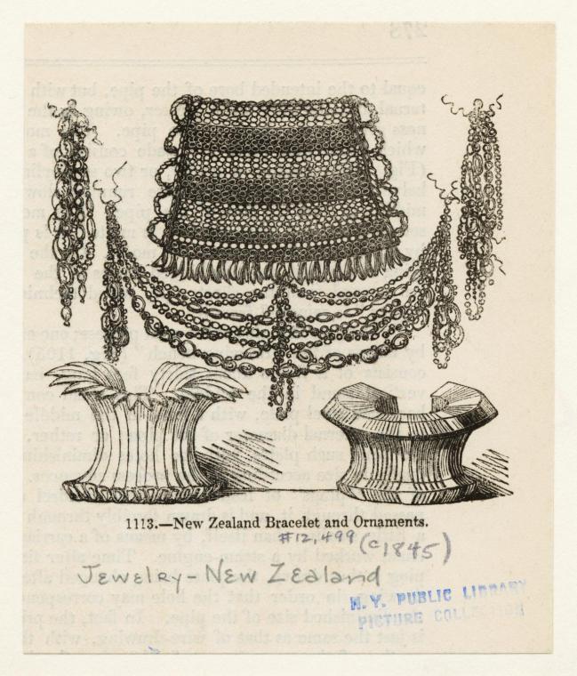 New Zealand bracelet and ornaments.