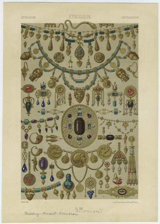 [Jewelry, ancient Etruria.]