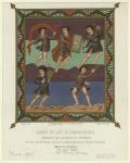 David et les IV compagnons, chantant les louanges du Seigneur.