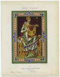 Roi.  Calque d'un dessin du Psalterium, No. 30.