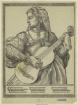 Woman playing the lute.