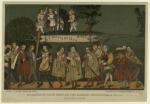 Musikantengruppe aus der Darstellung eines Augsburger Geschlechtertanzes von 1520.