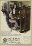 Advertisement for the Kranich & Bach player piano.