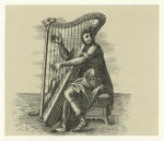 [Man playing the harp.]